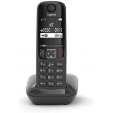 GIGASET-AS690 Gigaset - DECT/GAP bezdrátový telefon, displej, handsfree, seznam 100 čísel, barva černá