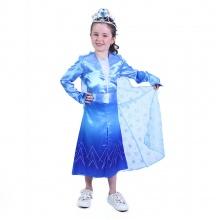 Dětský kostým modrá zimní princezna (M) (od 6 let)