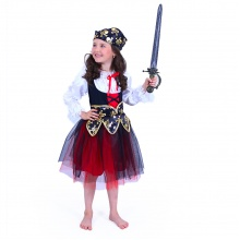 Dětský kostým pirátka (M) (od 6 let)