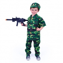 Dětský kostým voják (M) (od 6 let)