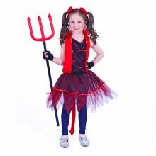 Dětský kostým čertice s ocasem (M) (od 6 let)