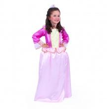 Dětský kostým růžová princezna sametová (M) (od 6 let)