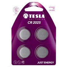 1099137110 Tesla - CR 2025 Lithium baterie 3V, BLISTER/4ks