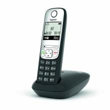 GIGASET-A690HX Gigaset - DECT/GAP přídavné sluchátko vč. nabíječky pro bezdrátový telefon, barva černá/ stříbrná