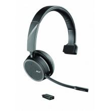 VOYAGER-4210-USB-C Plantronics - bezdrátová bluetooth náhlavní souprava na jedno ucho, pro mobil a PC, USB-C