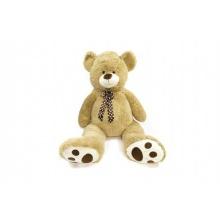 Medvěd s mašlí plyš 130cm béžový v sáčku 0+