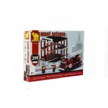 Stavebnice Dromader hasiči 21504 299ks v krabici 35x25,5x5,5cm