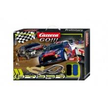 Autodráha Carrera GO!!! 62496 Rally up! 3,6m + 2 auta v krabici 58x40x8cm