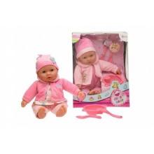 Panenka miminko měkké tělo s doplňky plast 40cm asst 2 barvy v krabici