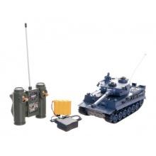 Tank RC plast 33cm TIGER I 40MHz na baterie+dobíjecí pack se zvukem a světlem v krabici 40x15x19cm