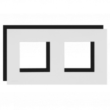 AUDAC CF45D/W Obvodový rámeček pro panely 45x45mm, dvojitý, bílý
