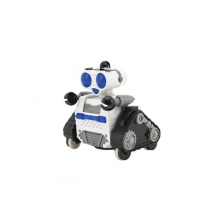 Robot RC plast pásový na dálkové ovládání s koulí v krabici 24x34x15cm