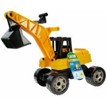 Bagr žlutočerný Giga Trucks plast 70cm v krabici 70x35x29cm