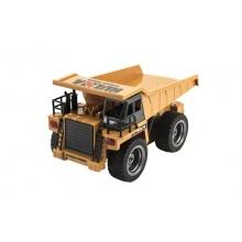 Nákladní auto RC kov/plast 28cm+dobíjecí pack na baterie se světlem v krabici 41x18,5x17cm