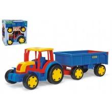 Traktor Gigant s vlečkou plast 102cm v krabici Wader