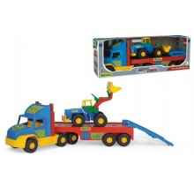 Auto Super Truck návěs s nakladačem plast 78cm Wader v krabici