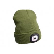 Čepice s čelovkou EXTOL LIGHT EX43192 nabíjecí, zelená