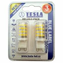 G9000340-PACK2 Tesla - LED žárovka, G9, 3W, 230V, 300lm, 15 000h, 4000K denní bílá, 360° 2ks v balení