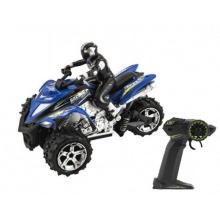 Tříkolka motorka RC plast 22cm 2.4GHz na baterie 2 barvy  v krabici 33x21x18,5cm