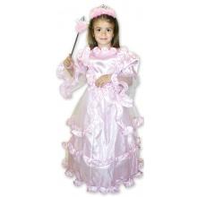 kostým princezna růžová, vel. M (od 6 let)