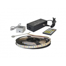 LED pásek sada 5m 12V 2835 120LED/m IP20 12W/m CCT, variabilní (W+N+C) + kontrolér + zdroj