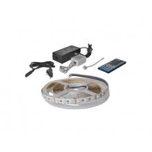 LED pásek sada 5m 12V 5050 60LED/m IP20 14.4W/m RGBW bílá teplá + kontrolér + zdroj