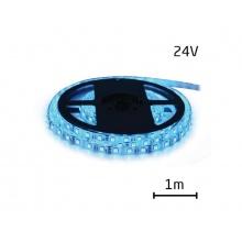 LED pásek 24V 3528  60LED/m IP65 max. 4.8W/m modrá (cívka 1m) zalitý