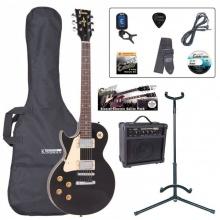 Encore EBP-LHE99BLK Left Hand Electric Guitar Outfit Gloss Black