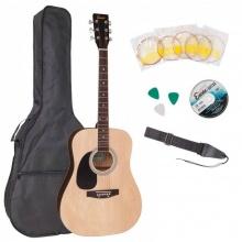 Encore EWP-100LH Left Handed Acoustic Guitar Outfit Natural