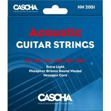 Cascha HH 2051 Premium Guitar Strings for Acoustic Guitars