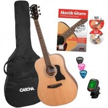 Cascha HH 2141 EN Dreadnought Acoustic Guitar Bundle