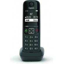 GIGASET-AS690HX Gigaset - DECT/GAP přídavné sluchátko vč. nabíječky pro bezdrátový telefon, barva černá