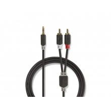 Kabel NEDIS JACK 3.5 stereo/2xCINCH 5m