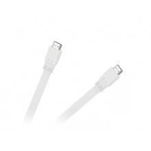 Kabel CABLETECH KPO3725-1.8 plochý HDMI 1,8m, bílý