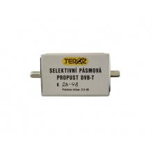 Anténní propust pásmová 5G pro kanály K23 až 48 ( 486 až 690 MHz )