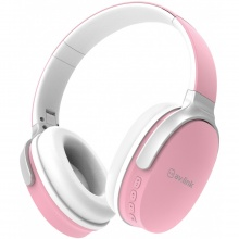 AV:link WBH-40 PNK, multimediální bezdrátová sluchátka, růžové