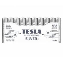 1099137215 Tesla - SILVER Alkaline baterie AAA (LR03, mikrotužková, shrink) 10 ks