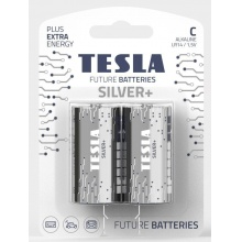1099137218 Tesla - SILVER Alkaline baterie C (LR14, malý monočlánek, blister) 2 ks