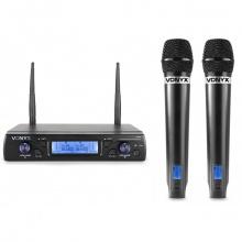 Vonyx WM62, UHF mikrofonní set 2 kanálový, 2x ruční mikrofon