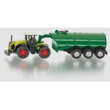 SIKU Blister - Traktor Claas Xerion s cisternou