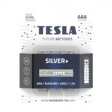 1099137217 Tesla - SILVER Alkaline baterie AAA (LR03, mikrotužková, blister) 4 ks