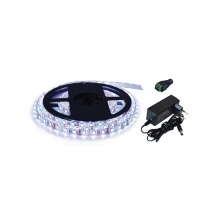 LED pásek sada 2,5m 12V 2835 60LED/m IP65 6W/m bílá studená (magnetický) +zdroj