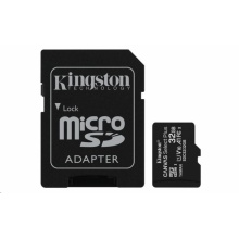 SDCS2/32GB Kingston - paměťová karta 32GB Micro SDXC Canvas Select Plus 100R A1 C10 Card + SD adaptér