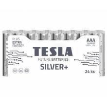 1099137216 Tesla - SILVER Alkaline baterie AAA (LR03, mikrotužková, shrink) 24 ks