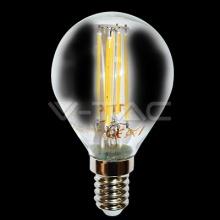 VT-1996D-4394 V-TAC LED žárovka miniglobe E14 Filament, 4W, 230V, 320lm,  2700K teplá bílá, 300°, čirá stmívatelná