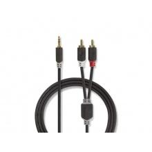 Kabel NEDIS JACK 3.5 stereo/2xCINCH 10m