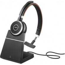 EVOLVE-65-MONO-STAND-MS Jabra - bezdrátová náhlavní souprava pro PC, Bluetooth, USB, NFC, spona přes hlavu, na jedno ucho