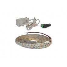 LED pásek sada 2,5m 12V 3528 120LED/m IP65 9.6W/m ice blue + zdroj