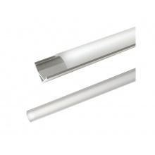 AL profil AC2 nový pro LED pásky, rohový, s vypouklým plexi, 2m