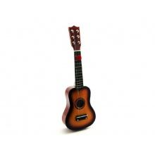 Dětská kytara TEDDIES dřevo/kov 53 cm